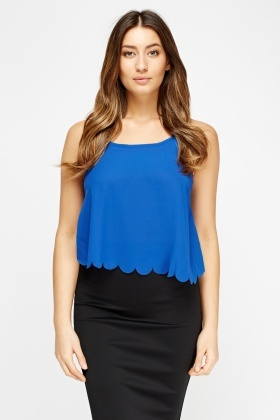 Scallop Trim Cami Top