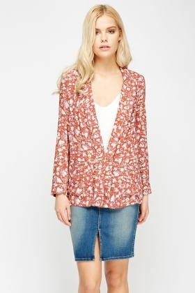 Floral Light Weight Cardigan