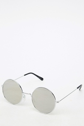 2836686346 Silver Round Sunglasses - Just £5