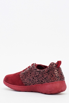 Contrast Bordo Trainers
