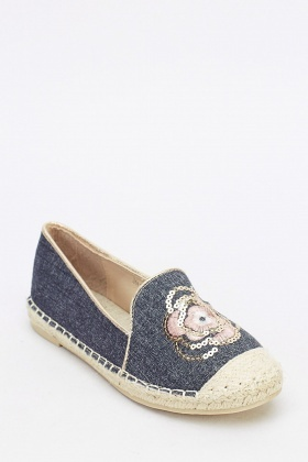 Contrast Espadrille Rose Shoes