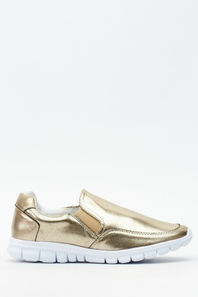 Metallic Slip On Trainers