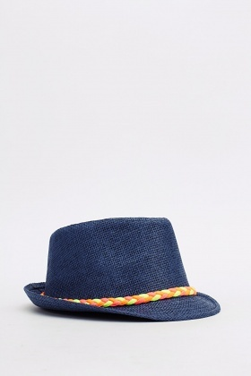Plait Trim Fedora Hat