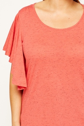 Flared Short Sleeve Top