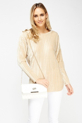Pleated Long Sleeve Top