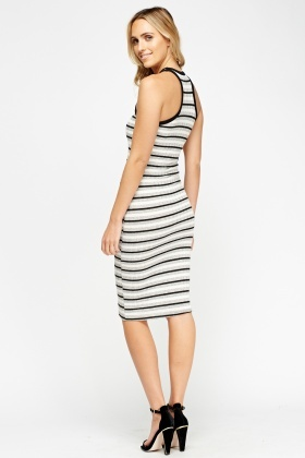 Striped Bodycon Midi Dress - Just £5 05dc4695e1fa