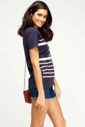 Pack Of 2 Printed Striped Top