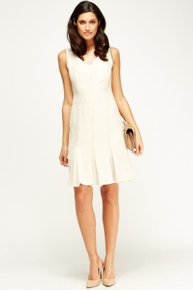 Pleated Shift Dress