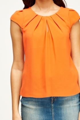 Ruched Neck Top