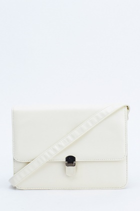 Cream Box Shoulder Bag