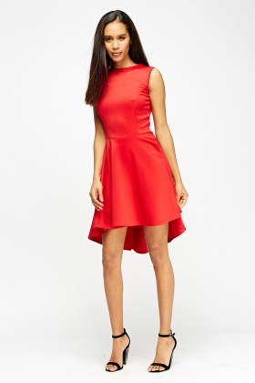 Dip Hem Skater Dress