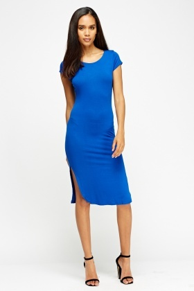 Slit Side Midi Dress