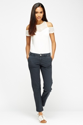 Straight Leg Chino Trousers