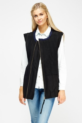 Charcoal Zipped Gillet