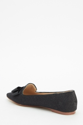 Court Shimmer Bow Flats