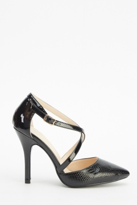 Criss Cross Strap Court Heels