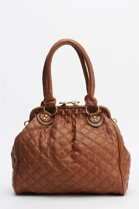 Quilted Faux Leather Bag