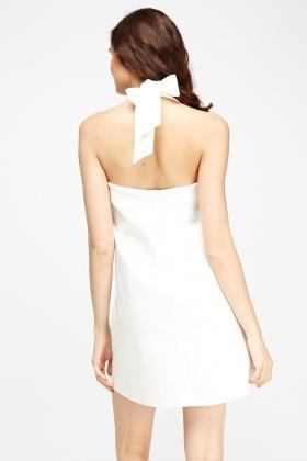 Halter Neck White Scuba Dress Just 163 5