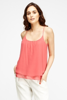 Watermelon Overlay Cami Top
