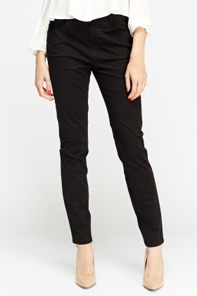 Straight Leg Casual Chino Trousers