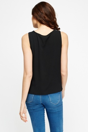 Tie Up Neck Sleeveless Top