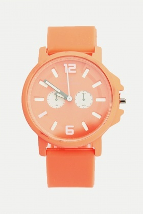 Coloured Dial Strap Watch