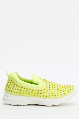 Diamante Slip On Trainers