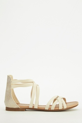 Elasticated Strappy Sandals