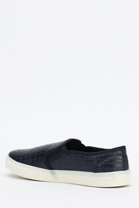 Mock Croc Mens Slip On Shoes