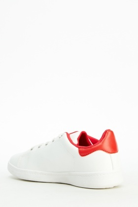 Two Tone Faux Leather Trainers