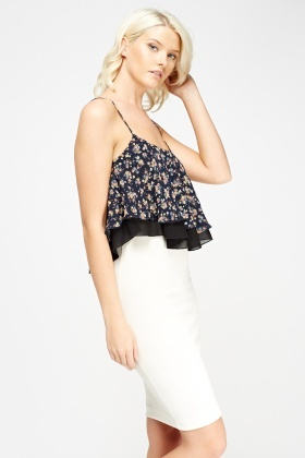 Overlay Printed Cami Top