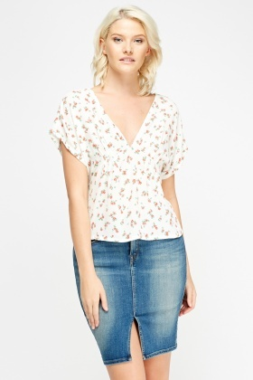 Scoop Back Floral Top