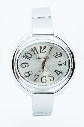 Oval Dial Bangle Watch