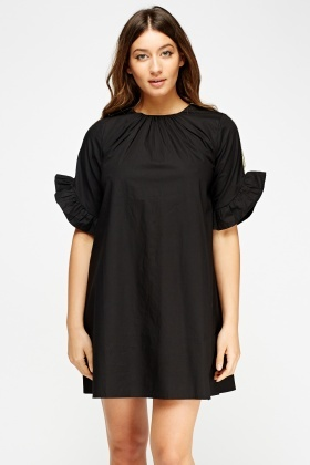 Flared Sleeve A-Line Dress