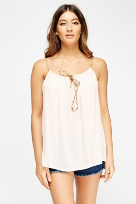Tie Up Front Cami Top