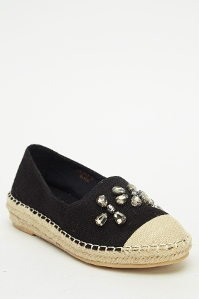 Espadrille Contrast Flat Shoes
