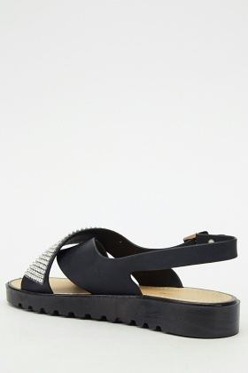 Sling Back Encrusted Sandal