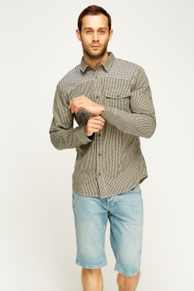 Check Grid Casual Shirt