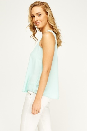 Mint Sheer Top