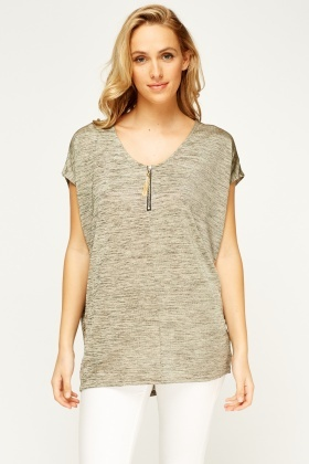 Speckled Batwing Top