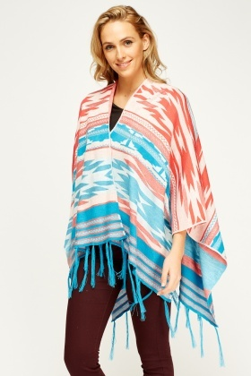 Knitted Tassel Hem Cover Up