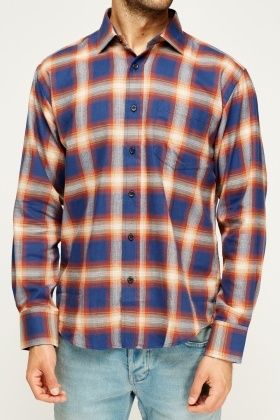 Navy Check Grid Shirt