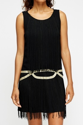 Tassel Contrast Dress