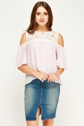 By Swan Mesh Insert Top