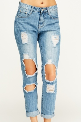By Swan Ripped Blue Denim Jeans