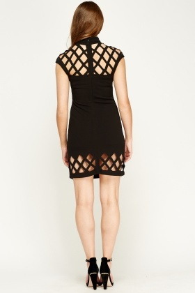 F & P Cut Out High Neck Bodycon Dress
