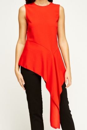 Flam Mode Asymmetric Red Top