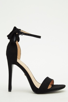 Bow Back High Heels