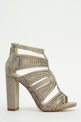Ideal Laser Cut Detailed Block Heel