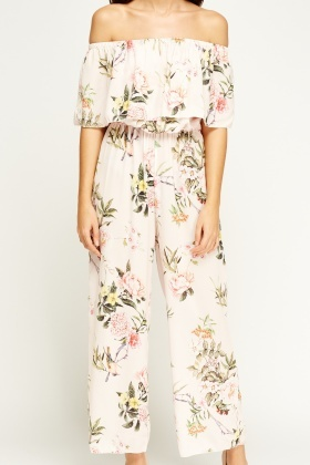 Kimi And Co Flared Floral Jumpsuit